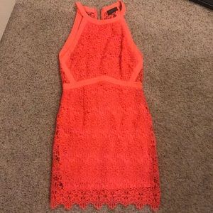 Form fitting lace dress